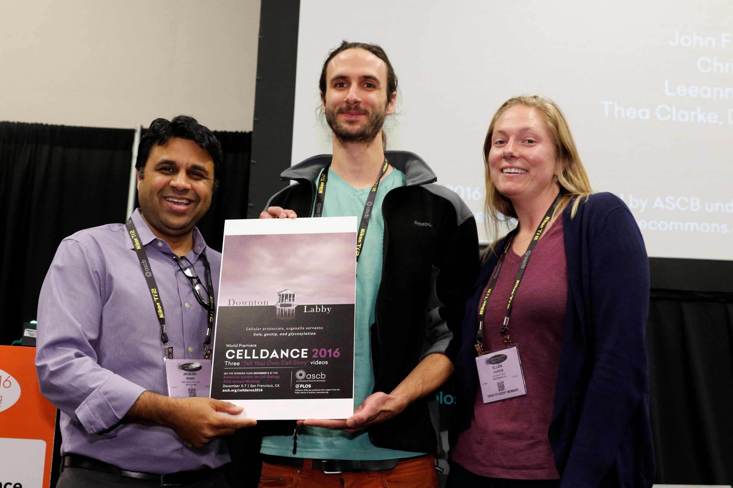 Cimini lab with Jagesh Shah (left) for ASCB Celldance