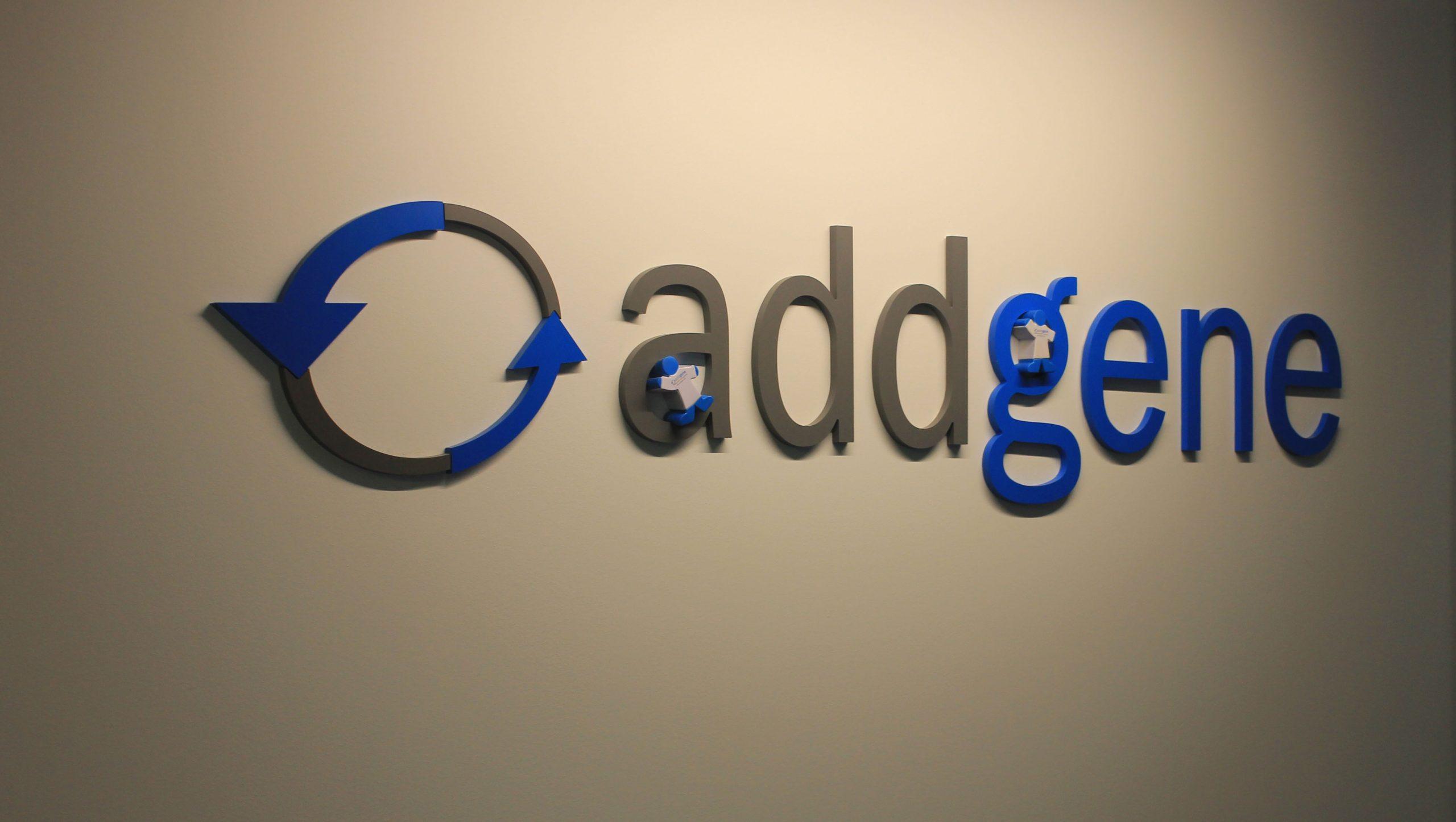 Addgene sign