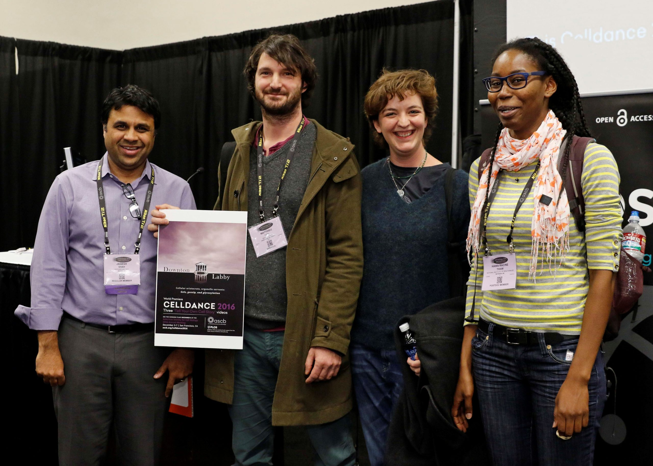Piel lab with Jagesh Shah (left) for ASCB Celldance