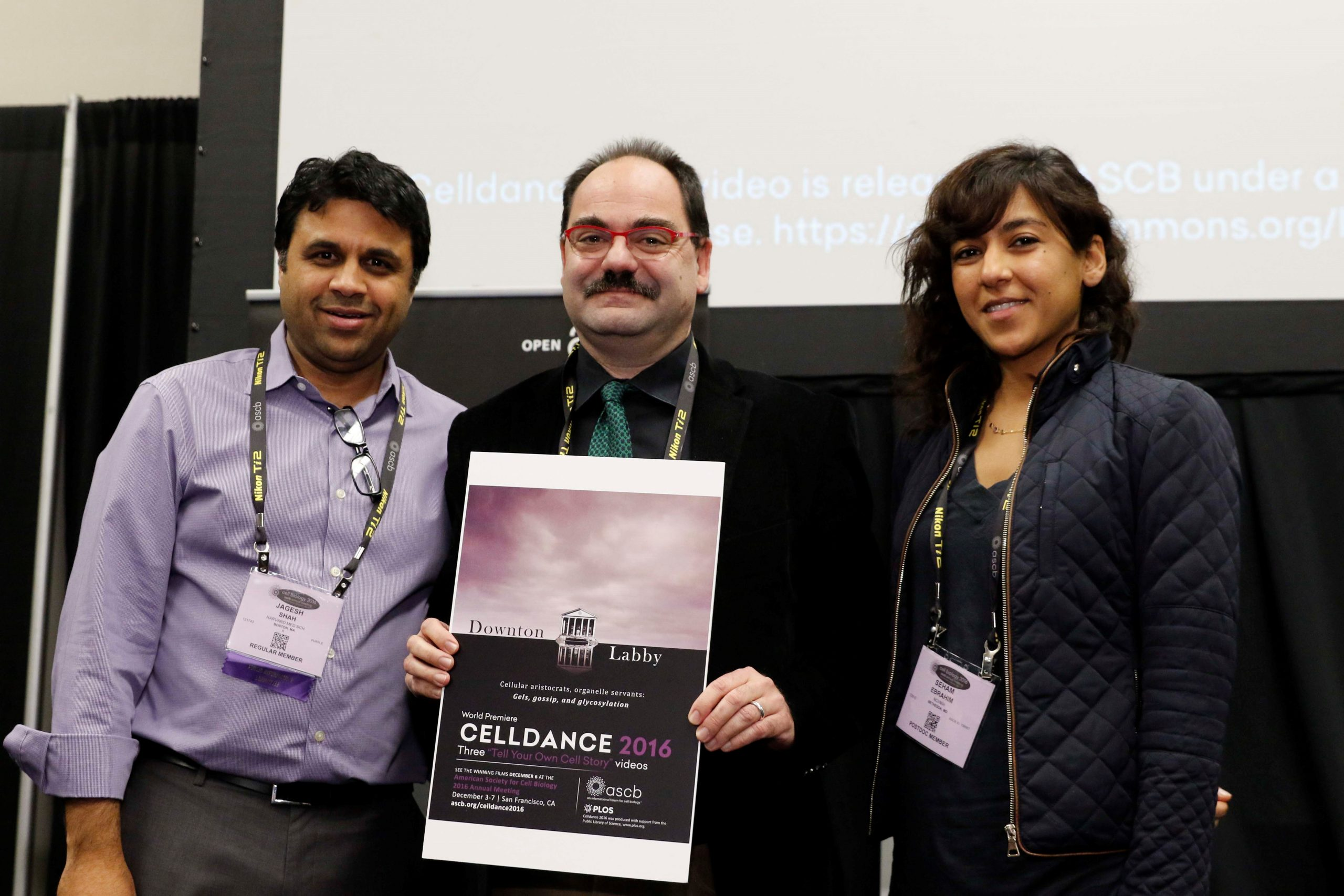 Weigert lab with Jagesh Shah (left) for ASCB Celldance