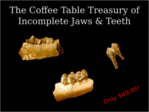 The nightmare scenario of someone profiting off of images of fossils.