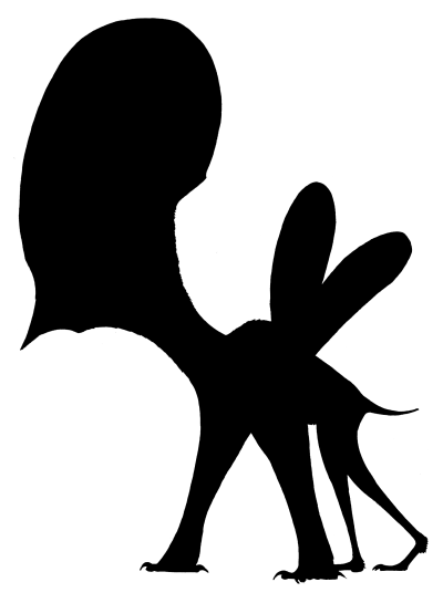 Silhouette of Tapejara, a close relative of Caiuajara. Image by Jaime Headden, via phylopic.org. CC-BY.